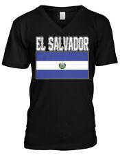 El Salvador Flag Salvadorian National Pride World Cup Mens V-neck T-shirt