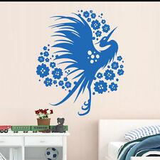 Sticker Décoration Florale Asiatique Oiseau Fleurs, 30x25 cm à 70x58 cm (OIS032)