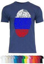 M69 F140 Herren T-Shirt mit Motiv Fingerprint of Russia  Russland Design Abdruck