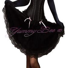 Falda Negra Talla Plus 6-28 Vestido Elegante Para Mujer Burlesque Swing Largo Retro 50s Reino Unido