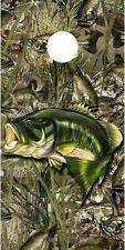 Bass fishing camouflage cornhole board game decal wraps