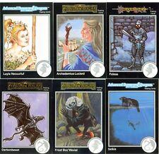 DONJONS & DRAGONS 6 Cartes Neuves de 1992 (DUNGEONS) Lot N° 020