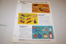 Vintage - WIZZER KEY CHAIN HOLDERS - ad sheet #0527