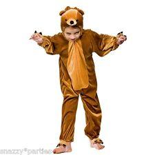 Child TEDDY BEAR Fancy Dress Kids Costume Jungle Goldilocks Book Week Age 3-13