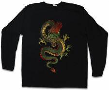CHINESE DRAGON LONG SLEEVE T-SHIRT Fantasy Tattoo Monster Japanese Dungeons