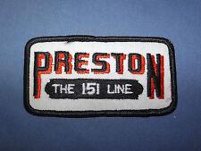 VINTAGE TRUCK PRESTON THE 151 LINE ARM SHOULDER PATCH