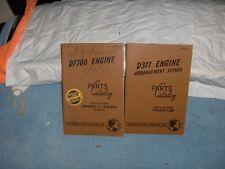 CAT Caterpillar Tractor Engine Parts 2 Catalogs