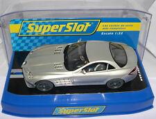 SUPERSLOT S2632B MERCEDES BENZ SLR McLAREN 722  SILVER  SCALEXTRIC UK  MB