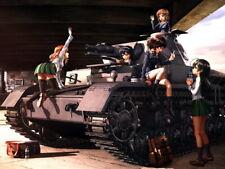 Girls und Panzer Yukari Hana Miho Mako Saori Yuuki Huge Print POSTER Affiche