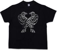 HUGIN AND MUNIN IV Kids Boys T-Shirt Norse Vikings Odhin Odin Thor Raven Ravens