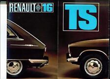UNUSUAL RENAULT 16  TS OVERSIZED SALES BROCHURE 1968
