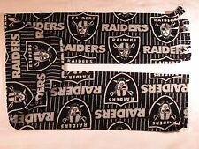 Oakland Raiders with Stripes Fleece Scarf