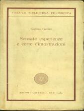 SENSATE ESPERIENZE E CERTE DIMOSTRAZIONI  GALILEO GALILEI LATERZA 1963