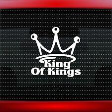 King Of Kings Crown Christian Car Decal Truck Window Vinyl Sticker (20 COLORS!)