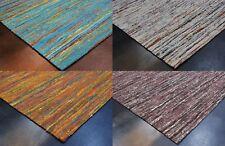 Designer Natur Kelim Teppich Handarbeit Sari Jacquard fein verschiedene Größe