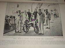 1895 LIGHT - FIELD GUN DRILL ON HMS CAMPERDOWN SAILORS