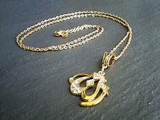 "Allah Charm Gold Crystal Pendant Necklace Muslim Islamic Charm 14""-24"" UK"