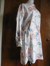 Gap Women S White Flower Long Sleeves Dress Size Medium Large Xlarge Nwt