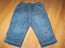 Infant Baby Size 6-9 Months The Children's Place Fleece Lined Denim Blue Jeans