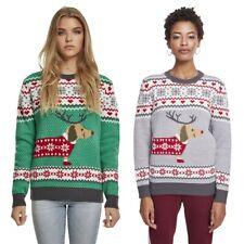 Urban Classics Ladies Sausage Dog Christmas Sweater Weihnachten Dackel Damen 5XL