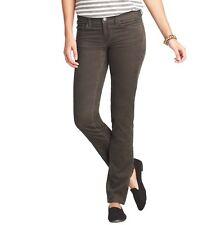 NWT Ann Taylor Loft Dk Grey MARISA Modern Straight Leg Corduroy Jeans $59  00