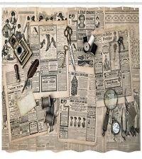 Antique Shower Curtain Old Fashion Design Print for Bathroom