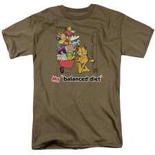 Garfield Balanced Diet T-shirts & Tanks for Men Women or Kids