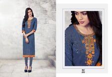 Women Kurti Tunic Kurta Dress Indian Pakistani Designer Embroidery