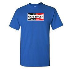 Cafe Racer-Triton-construido no comprado-Biker-Motocicleta-Retro - Azul Real-T-Shirt