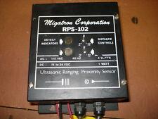 MIGATRON CORPORATION RPS-102, ULTRASONIC RANGING PROXIMITY SENSORS