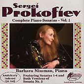 NEW Prokofiev: Complete Piano Sonatas, Volume 1; 1989 CD, Barbara Nissman, Piano