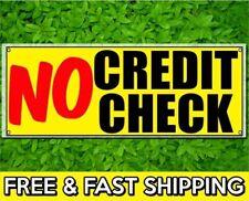 NO CREDIT CHECK Vinyl Sign 13oz Banner w/ Grommets Financing Bad Credit