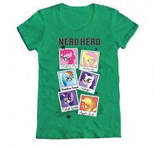 My Little Pony Nerd Herd T-Shirt Women's Green Licensed NEW