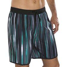 Speedo Mens Glide 18 inch Swimming Board Watershorts Aqua Swim Shorts Black/Grey