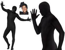 Second Skin Zentai Bodysuit Fancy Dress Outfit Black New by Smiffys
