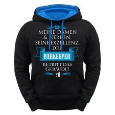 Kapuzenpullover Seine Exzellenz DER BARKEEPER Hoodie Theke Cocktail Bar Geschenk