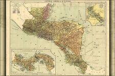 Poster, Many Sizes; Map Of Central America Panama Costa Rica Guatemala Honduras
