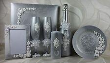 Sekt Hochzeitsgläser  Geschenkidee Geschenk silber