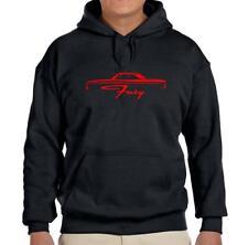 1964 Plymouth Fury Hardtop Black Hoodie Sweatshirt FREE SHIP