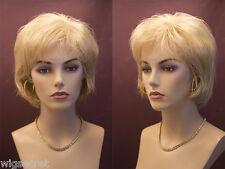 Short Blonde Brunette Red Straight Wigs