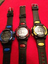 Reloj Pulsera Digital Niños Chicos Chicas con Alarma y Fecha 5 Colores vendedor del Reino Unido blkcol