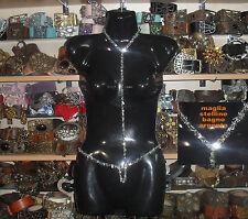 collarino cintura maglia metallo stelline bagno argento  anche su misura