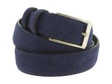 Cintura camoscio blu jeans da uomo artigianale da 3,5 cm made in Italy