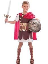 Childs Gladiator Fancy Dress Costume + Armoury Roman Centurion Army Soldier Boys