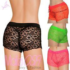 Shorts Donna Pantaloncino mare copricostume colori fluo