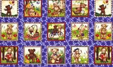 Teddy plazas Paneles Algodón Colchas de retazos de tela (27 paneles cada 9,5 cm X 9.5 Cm)