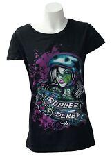 Roller Derby pour femme T shirt noir ou blanc