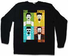 FACES OF METH LONG SLEEVE T-SHIRT Breaking Walter Heisenberg White Cook Bad