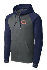 New Bears Full Zip Jacket Blue Hoodie Hooded Sizes XS - 4XL Chicago Sweatshirt