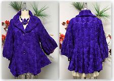 Artsy High-end European Style Jacket, Lace Ribbon. Sizes L, 1X, 2X, 3X